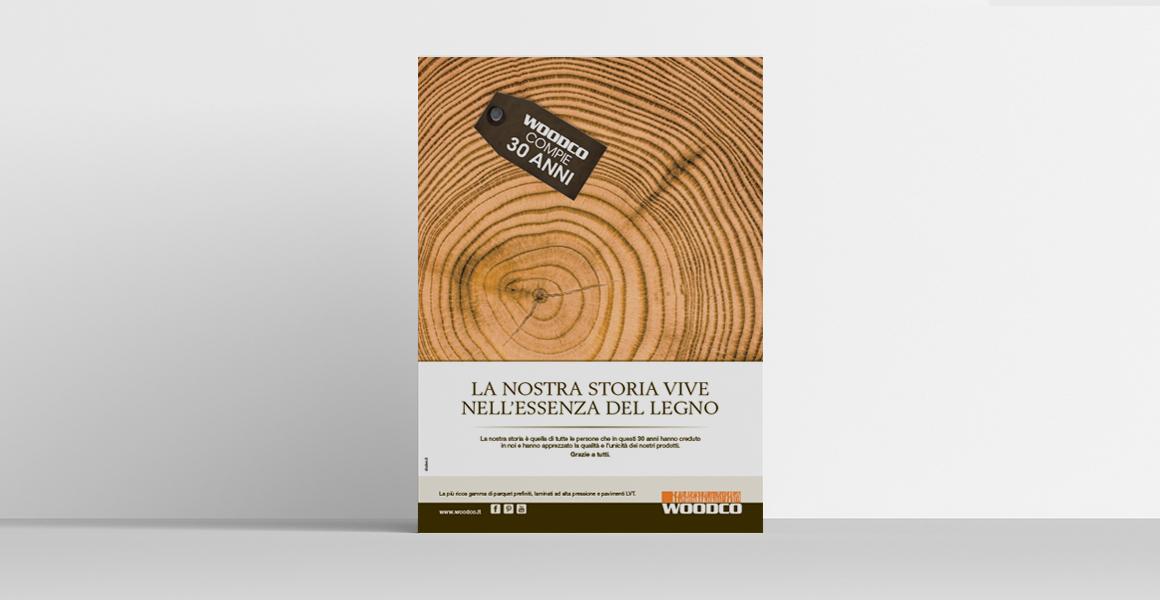 progettazione pubblicità Woodco