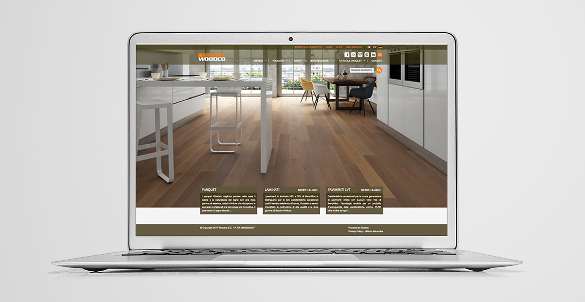 realizzazione sito web woodco parquet