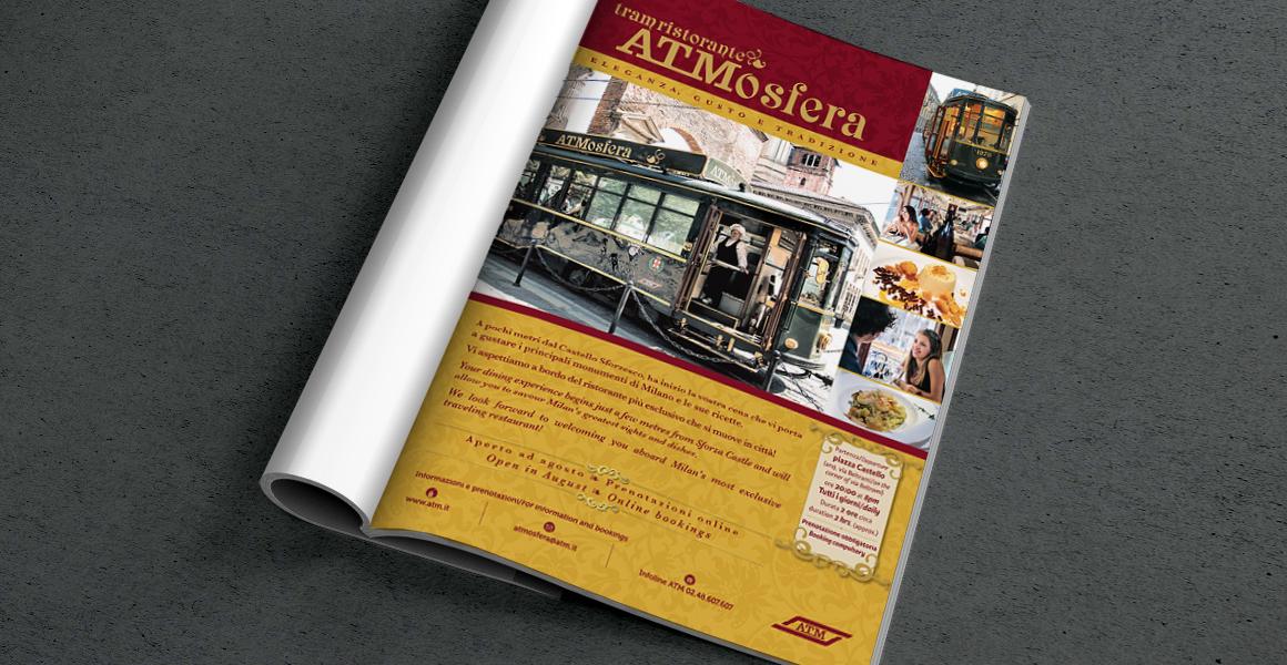 Pubblicità tram ristorante ATM atmofera