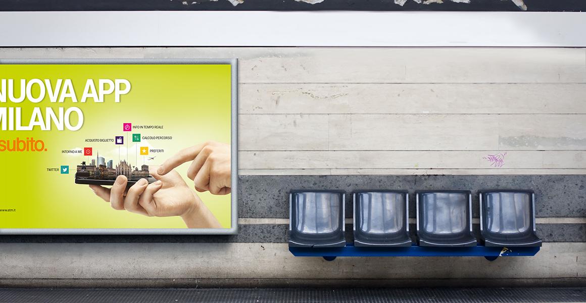 affissione Atm azienda trasporti milanesi