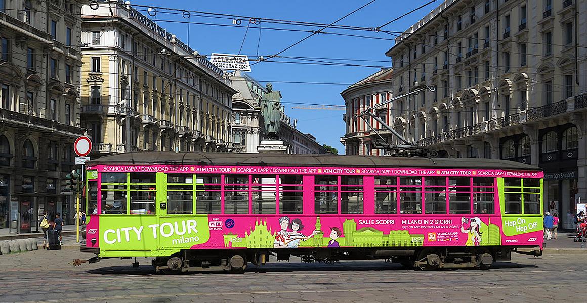 ATM City tram pubblicità