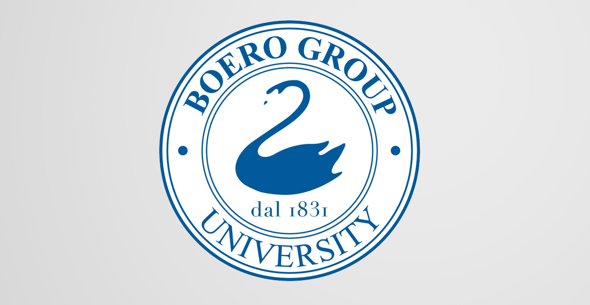 progettazione logotipo boero Group university