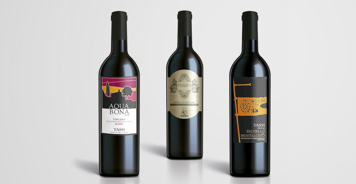 grafica etichetta bottiglia vino