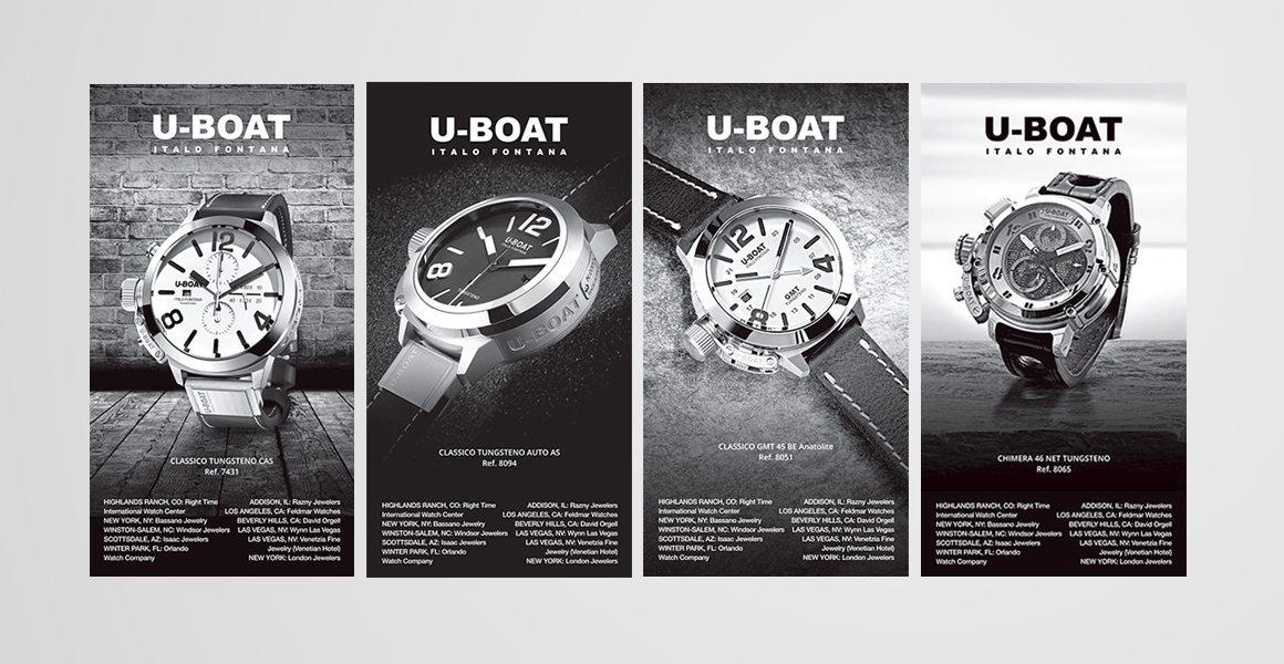 progettazione campagne pubblicitarie U-Boat orologi