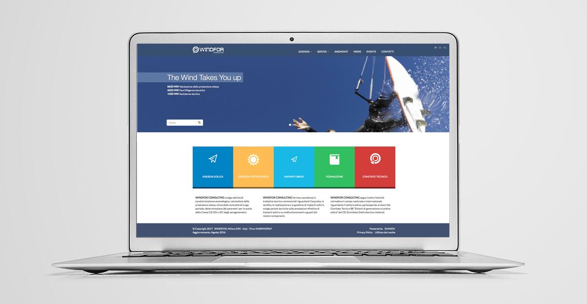 realizzazione sito web windfor
